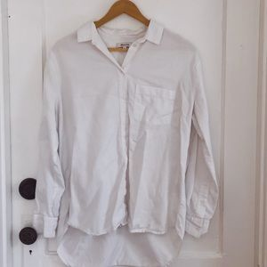 Madewell White Button Down Top